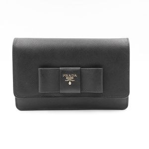 Prada Saffiano Galleria Black Leather Bag